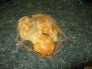 cheese crisps snack bag