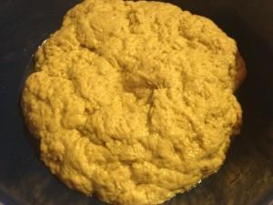 seitan dough in a bowl