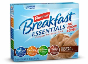 carnation instant breakfast no sugar chocolate