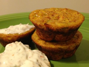 3 minim muffins with 1 ounce topping
