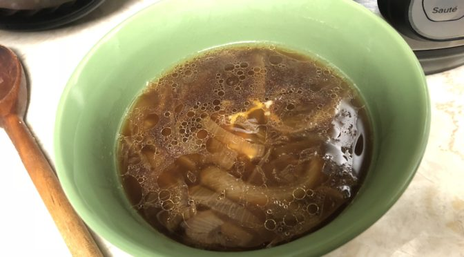 instant pot onion soup vegan